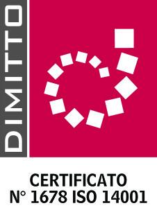 LOGO DIMITTO N 1678 ISO 14001 DE DOMENICO alta risoluzione