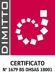 LOGO DIMITTO N 1679 BS OHSAS 18001 DE DOMENICO bassa risoluzione
